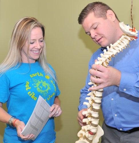Merriville Chiropractor John McDonald Consulting Patient
